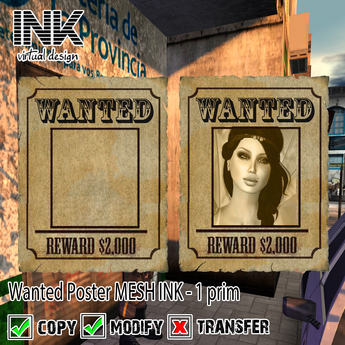 Wanted Poster MESH INK