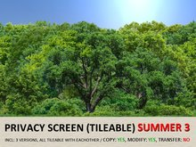 *DQ* PRIVACY SCREENS - SUMMER 3 (COPY/MOD/TILEABLE)