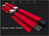 T-3D Creations [ Stairs 2 Steps with Cloth ] Regular MESH - Full Perm -