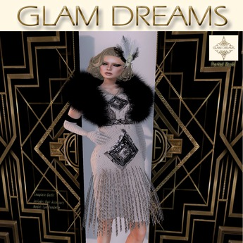 """Glam Dreams """"Gatsby"""" Cocktail (White)"""