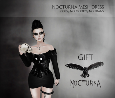Nocturna - Nocturna mesh(fitmesh) dress gift
