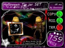 Halloween Tip jar Set Pumkin 1 * Menu Driven * 1 Login/Lougout