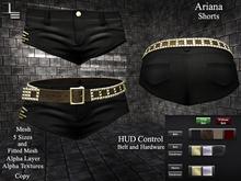 DE Designs - Ariana - Shorts - Black