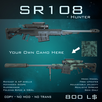 [BW] SR108 Hunter - v3 - Sniper Rifle