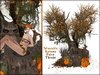 Boudoir-Wearable Autumn Fairy Throne