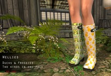 Lumiere Womens Ducks and Froggies Wellingtons