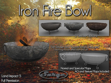 Iron Fire Bowl - Full Permission - Low Impact