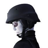 PASGT Style Kevlar Helmet (Gray) With Tactical Headset for Military or Security Use (mod/copy)