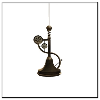 Steampunk Aether hanging Lamp- Belle Belle Furniture