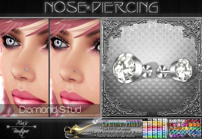 Second Life Marketplace Diamond Nose Stud Set