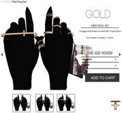 -FAUN- Midi Ring Set -Gold-