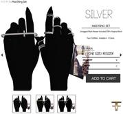-FAUN- Midi Ring Set -Silver-