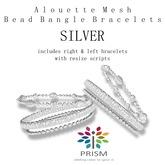PRISM Alouette Silver Bead Mesh Bangle Bracelets
