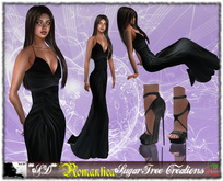 **SD** -Romantica-High Heels dress (Black)