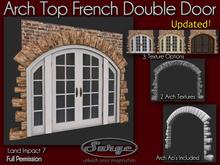 Mesh Arch Top French Double Door