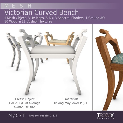 Trowix - Victorian Curved Bench Mesh Pack