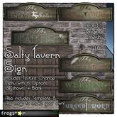 Frogstar - Salty Tavern Sign