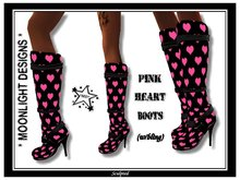 *MD* Pink Heart Boots