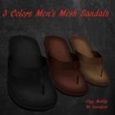 3 Colors Men's Mesh Sandals