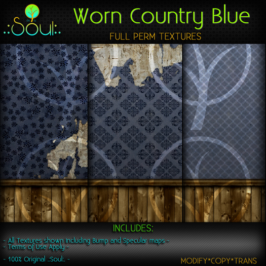 .:Soul:. Worn Country Textures - Blue