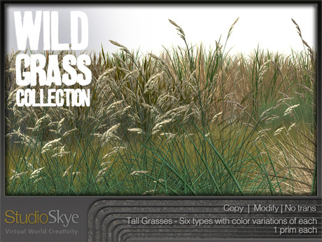 NEW! Wild Grass Collection from Studio Skye 100%Mesh