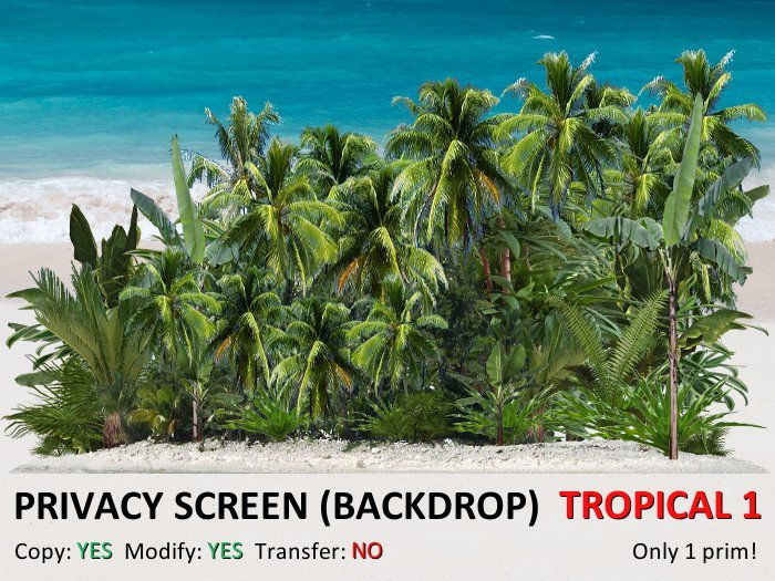*DQ* PRIVACY SCREEN (BACKDROP) - TROPICAL 1A (COPY & MOD)