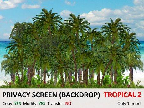 *DQ* PRIVACY SCREEN (BACKDROP) - TROPICAL 2A (COPY & MOD)