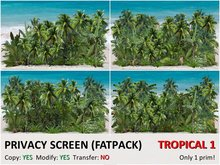*DQ* PRIVACY SCREENS - TROPICAL 1 (COPY/MOD)
