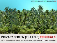 *DQ* PRIVACY SCREENS - TROPICAL 1 (COPY/MOD/TILEABLE)