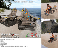 """<Heart Homes> """"Good Catch"""" Fishing Chair (Boxed)"""