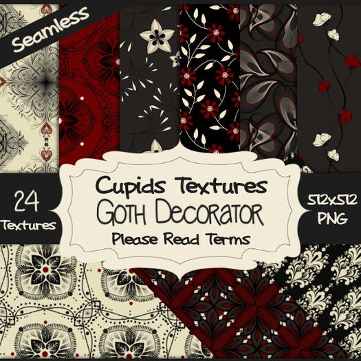 *Cupids Textures * 24 GOTH DECORATOR