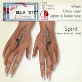 .::ReeA Tattoo::. Spirit [Version for Hands - Slink]