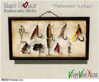 "<HEART HOMES> ""Fishermans Plugs"" Deco Frames"