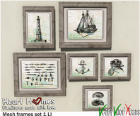 <HEART HOMES> Sailing Deco Frames