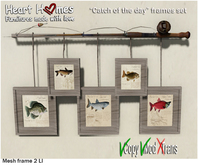 """<HEART HOMES> """"Catch of the Day"""" Deco Frames"""