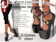 FD Ancona Sandals 01 Semiexclusive slink high 5/11 remain
