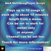 A&A MultiSongPlayer Script, boxed
