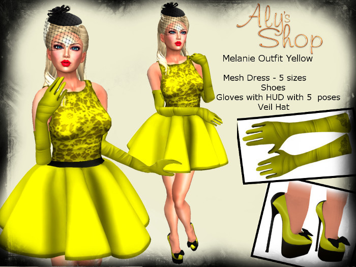 *Aly's Shop* Melanie Outfit Yellow