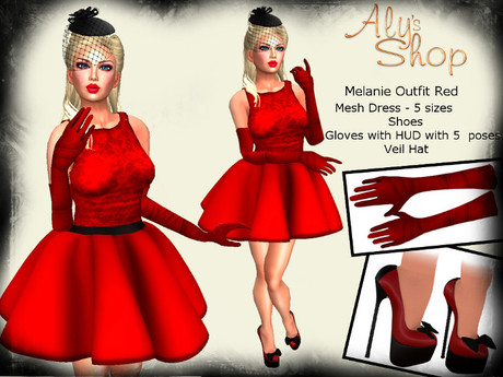 *Aly's Shop* Melanie Outfit Red