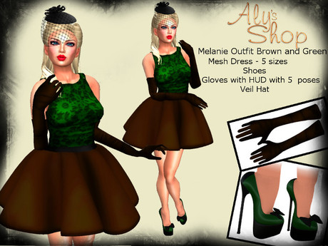 *Aly's Shop* Melanie Outfit Brown and Green