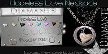 :Diamante: Hopeless Love Necklace - Non-Personalized Version