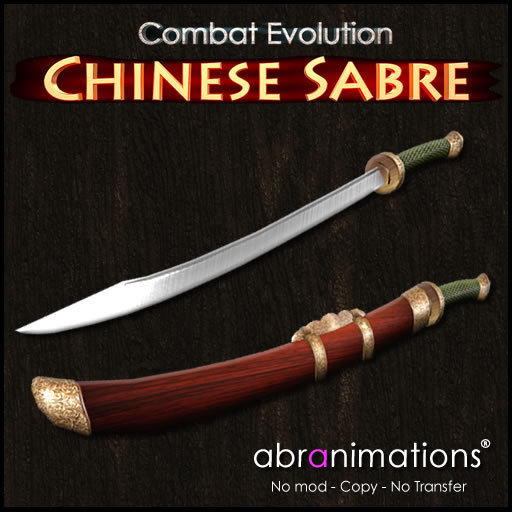 Single Chinese Dao Sabre ce v4.1 Abranimations