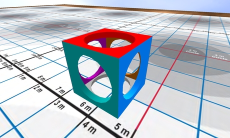 Second Life Marketplace Cube With Circle Cut Out And 6 Faces