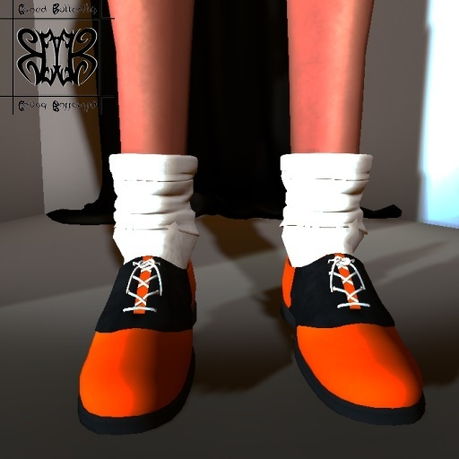 Second Life Marketplace Caged Butterfly Retro 50 S Doll Sherry Saddle Shoes Orange