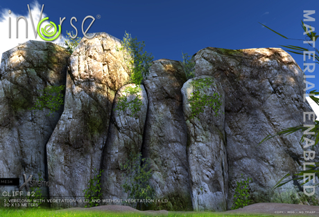 inVerse® MESH - Cliff screen #2 with materials enabled