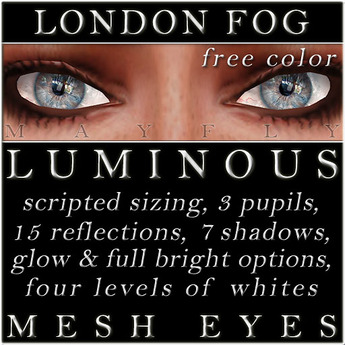 Mayfly - Luminous - FREE Color - Mesh Eyes (London Fog)