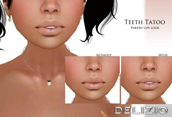 Delizio - Teeth Tattoo - FREE GIFT