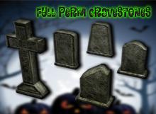 {XO} Full Perm Halloween Gravestones