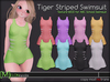 [M] Kemono Tiger Striped Swimsuit [for ABC School Swimsuit ]