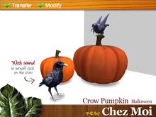 Halloween Crow Pumpkin ♥ NEW Chez Moi